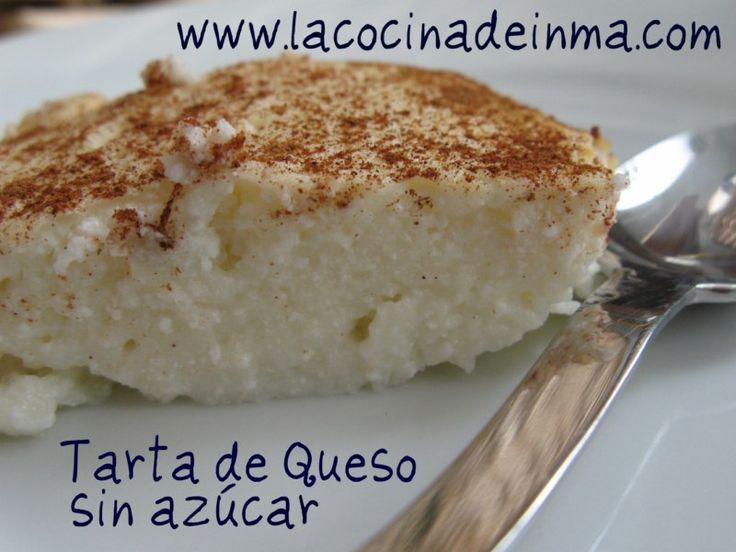 Tarta de queso sin azúcar. lacocinadeinma