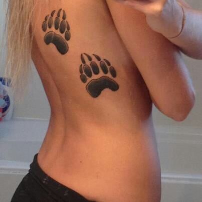 74 best canadain tattoo research images on pinterest for Pictures of bear paw tattoos