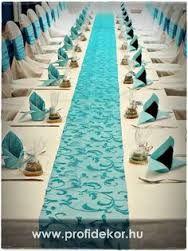 """Képtalálat a következőre: """"türkiz esküvői dekoráció"""""""