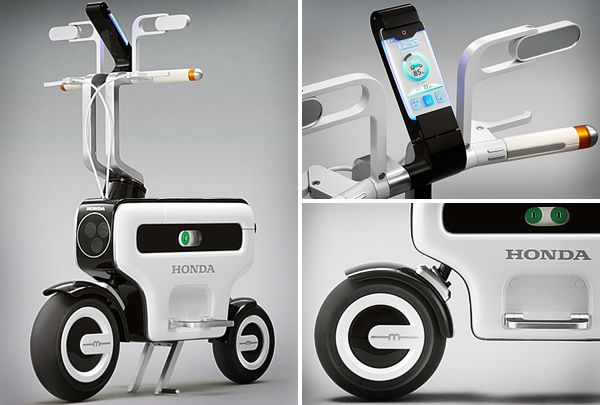 "Honda's ""Motor Compo"" - foldable electric scooter"