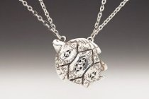 Silver Spoon Twin Link Chain Sea Turtle Necklace ND