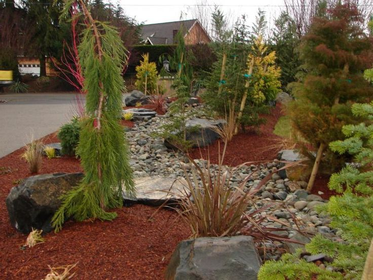 244 best images about front yard on pinterest for Mountain landscape design