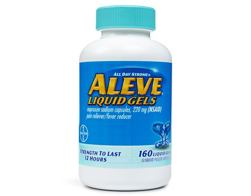 Aleve 160ct    Buy Here  A single caplet of All Day Strong Aleve offers 8 to 12 hours of persistent pain relief. Aleve can provide relief from tough pain with just two pills. Available without a prescription its easy to get relief that lasts all day without the necessity of seeing a doctor. Temporarily Aleve-iates minor aches and pains due to:  Minor pain of arthritis  Muscular aches  Backache/Headache/Toothache  Menstrual cramps  The common cold  Fever 160 Liquid Gels        The post Aleve…