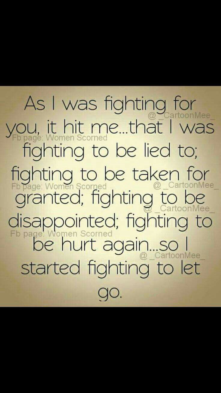 I was fighting for nothing...                                                                                                                                                                                 More