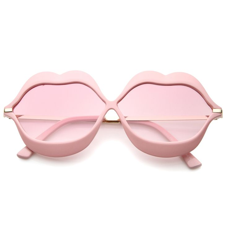 Oversize Lip Shape Frame Metal Temples Gradient Lens Novelty Sunglasses 63mm  #sunglass #bold #oversized #frame #sunglasses #clear #womens #mirrored #summer #sunglassla