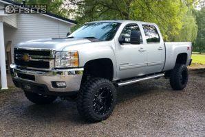 2013 silverado 2500 hd chevrolet suspension lift 7 fuel mavericks black super aggressive 3 5