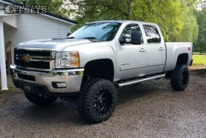 2013 silverado 2500 hd chevrolet suspension lift 7 fuel mavericks black super aggressive 3 5