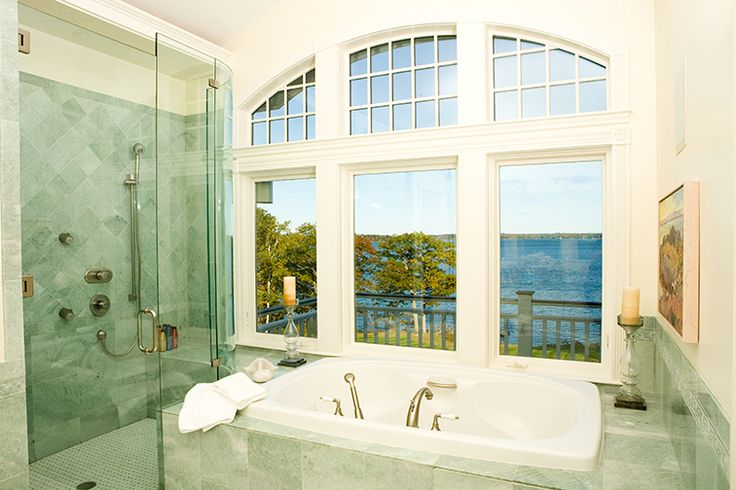 Carpentry by Maguire Construction, Inc. www.maguireconstruction.com Italian Marble floors and walls Jacuzzi Tub Radius Transom Windows