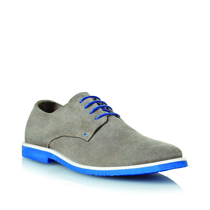 Grey and blue are always a stylish colour combo. Gents, the Bailey is a must-have. R1,399 #DuneLondonSS14