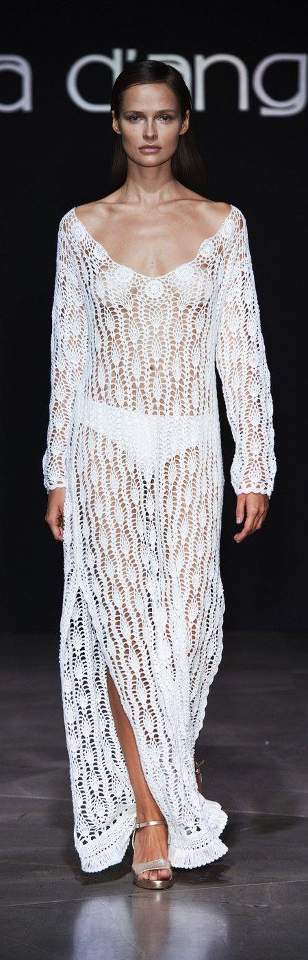 Raffaela D'Angelo at Milan Fashion Week Spring 2017 - Crochet Dress