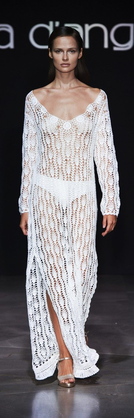 Raffaela D'Angelo at Milan Fashion Week Spring 2017 - Crochet Dress