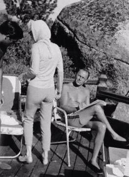 Marilyn with Frank Sinatra at Cal Neva Lodge in Lake Tahoe, July 1962
