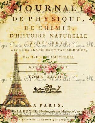 Vintage Paris Journal Printable