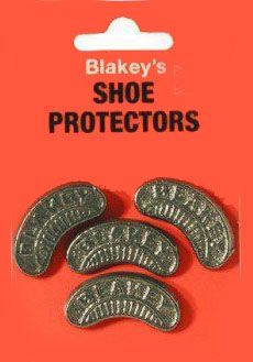 "Shoe protectors... saved your heels but made them super slippy. Also, they were very noisy as you walked and could mark floors. ........We called 'em ""segs""."