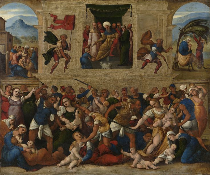 Massacre of the Innocents / La masacre de los Santos Inocentes // 1510 - 1530 // Lodovico Mazzolino // The Rijksmuseum