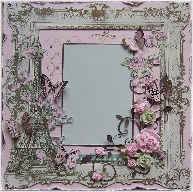 scrapbook layouts | Shabby Chic Premade 12x12 Scrapbook Layout,Paris,France,Eiffel Tower