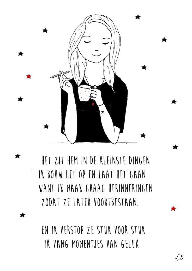 Persoonlijk gedicht met illustratie voor Tamara. Door Lot Bouwes