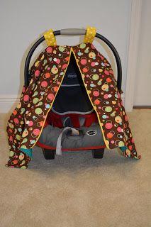 Naturally Crafty Mom Zippered Car Seat Canopy Tutorial