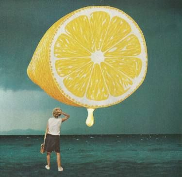 "Saatchi Art Artist Maya Mladenovic; Collage, ""When life gives you lemons..."" #art"