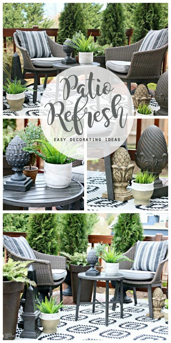 Easy Patio Decorating Ideas Patio Decor Decor Deck Decorating