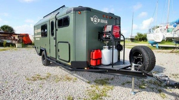 Man Designs, Builds and Produces Off Grid Micro Cabin Trailer