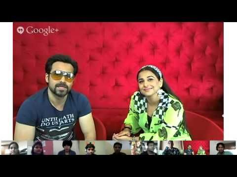 We had a fun G+ Hangout with Vidya and Emraan this morning. In case u missed it, here's the recording