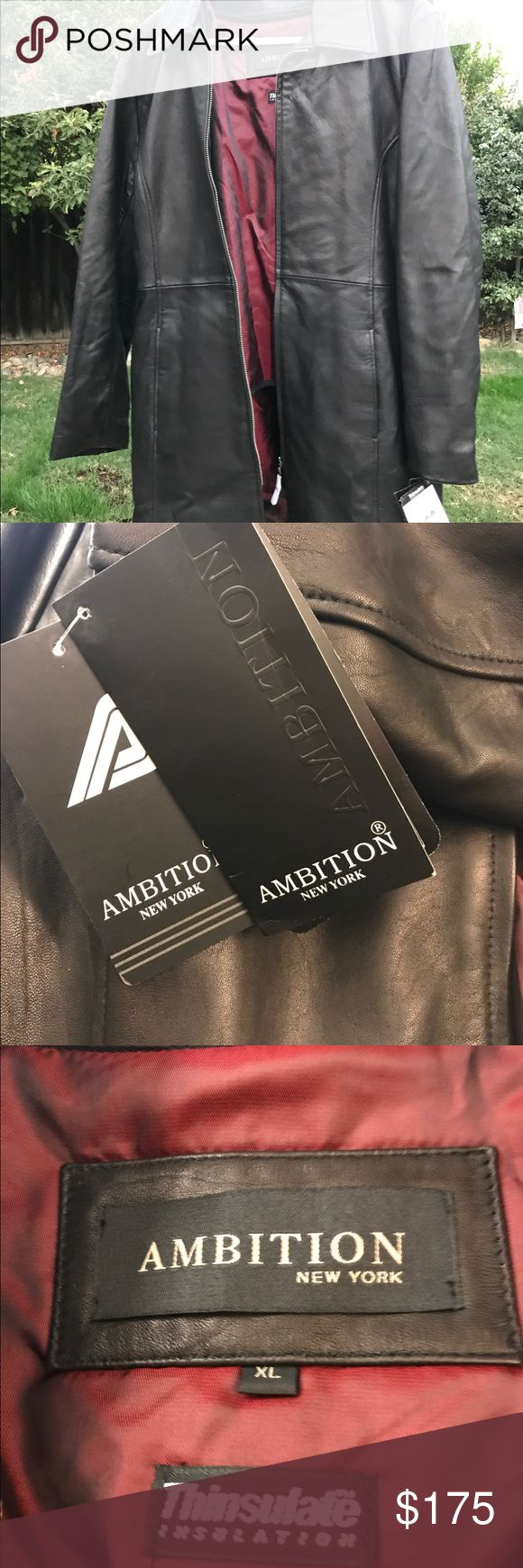Lambskin Leather Jacket Super warm! Given to me as a gift Ambition New York Jackets & Coats