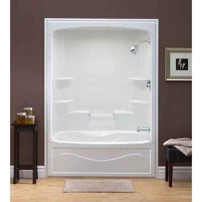 mirolin - liberty 60 inch 1-piece acrylic tub and shower