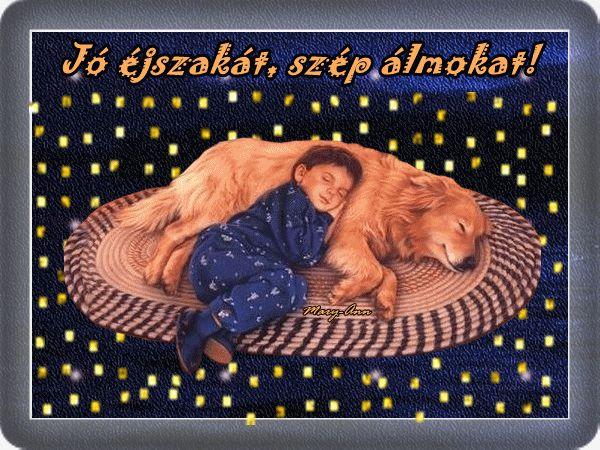 Jó éjszakát, szép álmokat! képeslapok