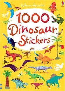 1000 dinosaur stickers - Editura Usborne; Varsta: 3+;  1000 autocolantecu dinozauri si o selectie de scene preistorice, intr-o carte de buzunar. Copiii pot folosi autocolante colorate pentru a realiza scene de lupta, de vânătoare și de pășunat, sau pentru a decora propriile lor imagini. Prezinta caracteristicile numele și habitatele tuturor dinozaurilor bine-cunoscute , inclusiv Triceratops , Stegasaurs și Oviraptors. Cadoul perfect pentru copii - dino nebune .