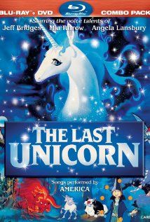 """The Last Unicorn (1982) • Mia Farrow, Alan Arkin, Jeff Bridges, Tammy Grimes, Angela Lansbury, Christopher Lee ——— This completely takes me back to watching movies with the family with salty popcorn and Hawaiian Punch in the """"fort"""" made from the couch cushions and old blankets.: Unicorn 1982, Kids Movies, Books Movies, Childhood Movies, Favorite Movies, The Last Unicorn, 80S Movies, Unicorns, Kid Movies"""