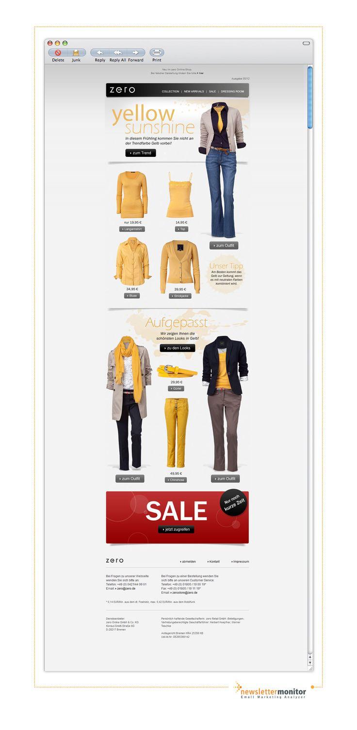 Brand: Zero | Subject: Der neue Trend in gelb - Yellow Sunshine
