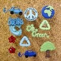 Decorative Push Pins.  Earth decorative push pins for cork decorative bulletin boards. These decorative Earth push pins for cork decorative bulletin boards are plastic and are great  push pins for cork bulletin boards  for those interested in Global Warming, Go Green, the preservation of the earth and conservation.  $9.95