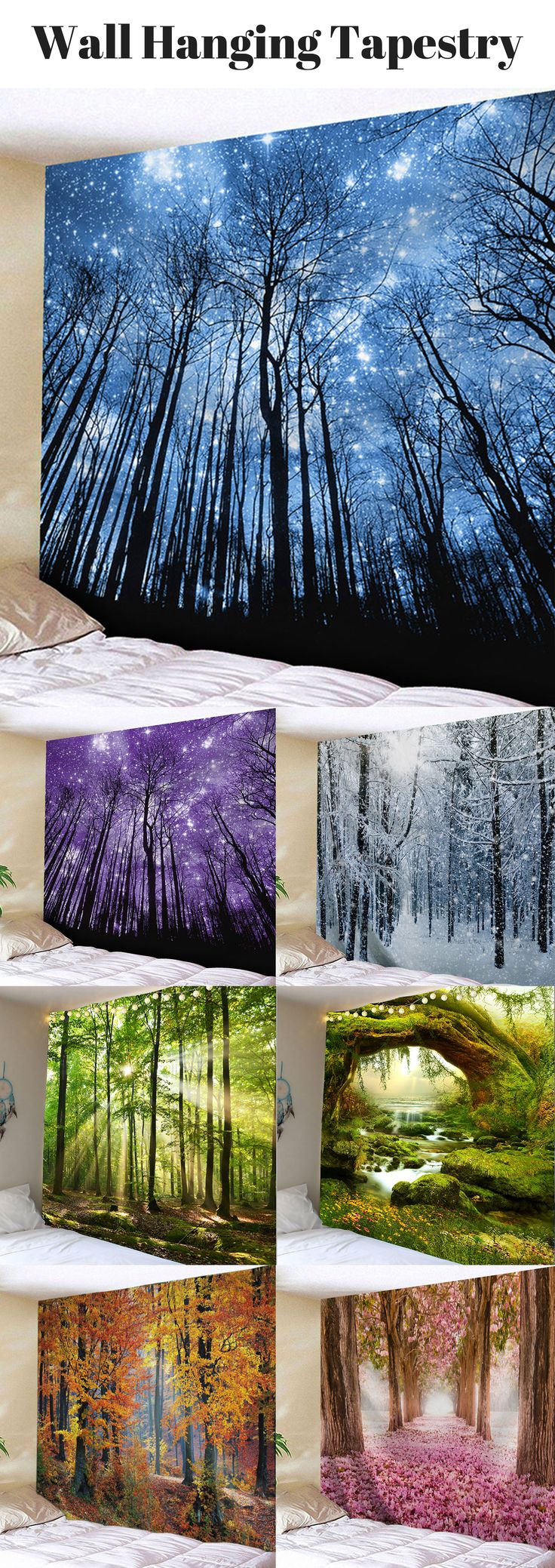 100+ Creative Wall Hanging Tapestries   Starting from $11   #WallHanging # WallArt #