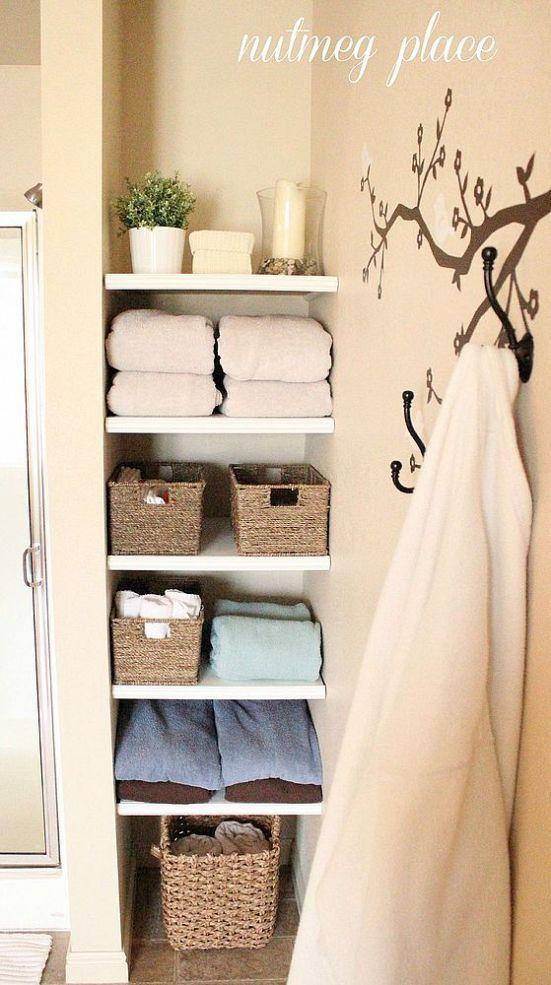 Hometalk :: Installing built in bathroom shelves