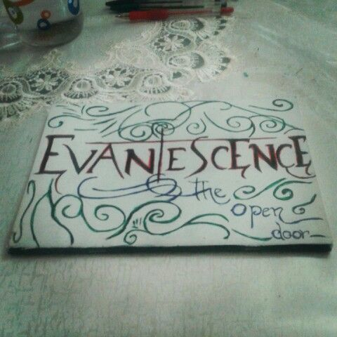Evanescence note book back page