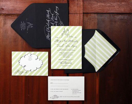 Beautiful custom stationery buy Bird and Banner #stationery #custom #wedding