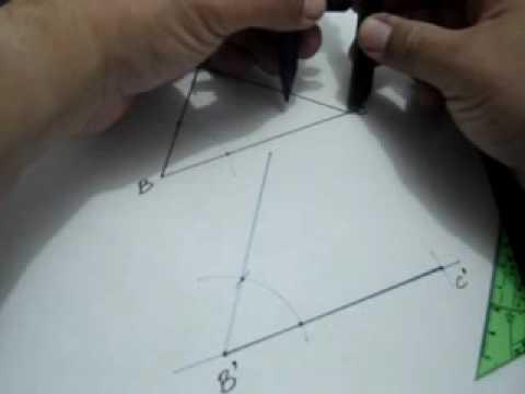 Construcción de un triángulo congruente a uno dado usando el postulado ALA: Julio Rios explica cómo construir un triángulo congruente a uno dado, usando el postulado Ángulo Lado Ángulo (ALA)