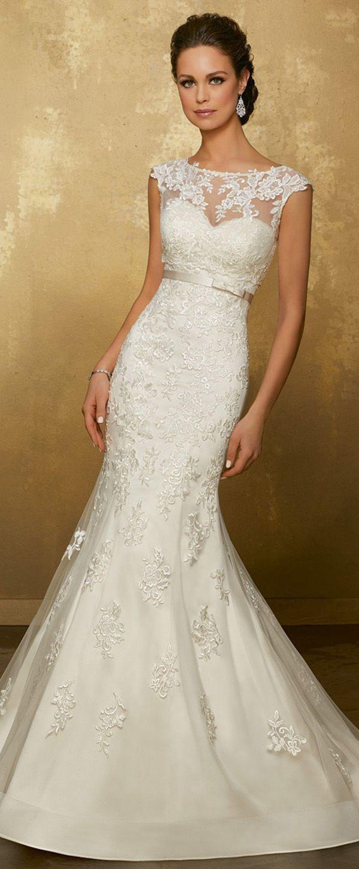 Wonderful Tulle Jewel Neckline Mermaid Wedding Dress With Lace Appliques Detachable Jacket