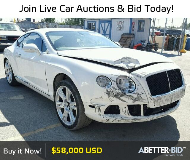 Salvage 2013 BENTLEY ALL MODELS For Sale