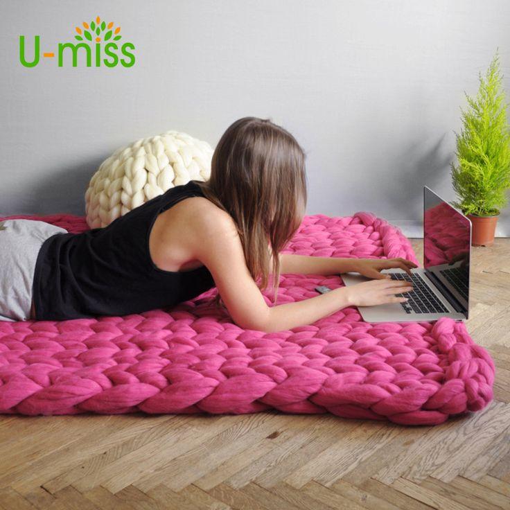 die besten 25 stricken decke grobstrick ideen auf. Black Bedroom Furniture Sets. Home Design Ideas