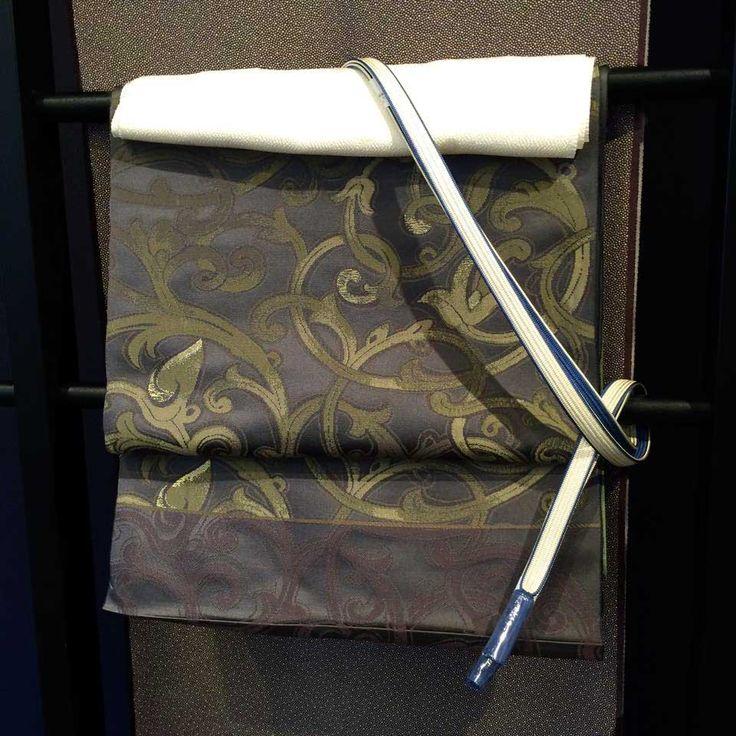 渋×渋をつなぐ小物セレクト | http://store.eizi.jp/clumn/2464 #着物コーディネート #kimono
