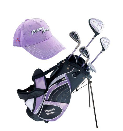 Paragon Rising Star Girls Kids Golf Clubs Set / Ages 8-10 Lavender With Hat / Left-Hand at http://suliaszone.com/paragon-rising-star-girls-kids-golf-clubs-set-ages-8-10-lavender-with-hat-left-hand/