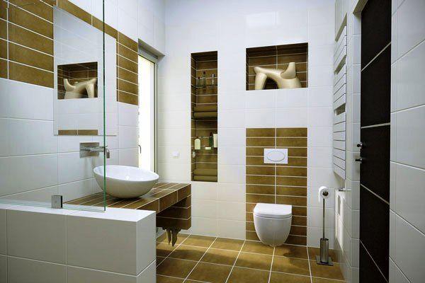 small contemporary bathroom 30 Terrific Small Bathroom Design Ideas