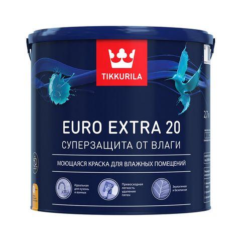 Euro Extra 20 полуматовая водоразбавляемая краска для стен и потолка Тиккурила – где купить, характеристики краски Евро Экстра 20 Tikkurila