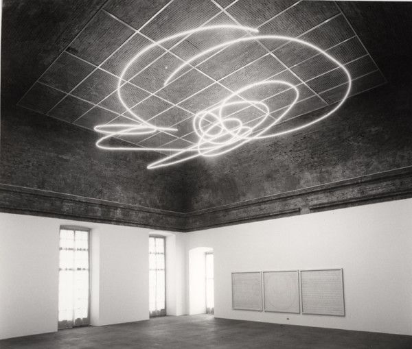 Lucio Fontana - Neon Structure for the IX Triennale Di Milano (1951)