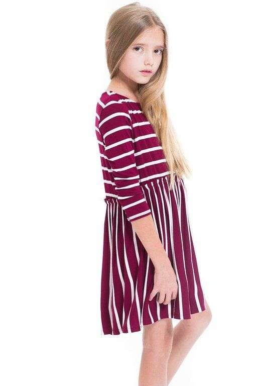 Striped Baby Doll Tunic Dress Tween Fashion With Images