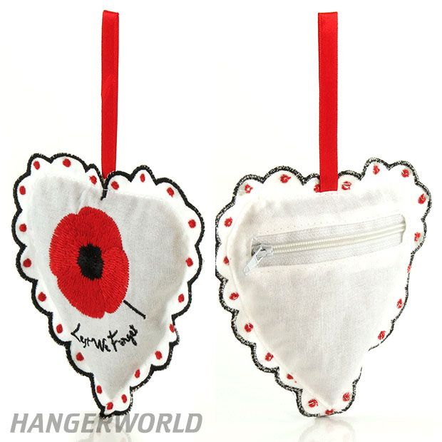 Fancy Lavender Hand Crafted Linen Poppy Heart