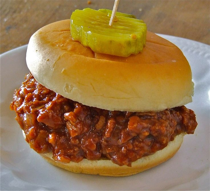 Vegetarian Sloppy Joe's - Nice, easy recipe.