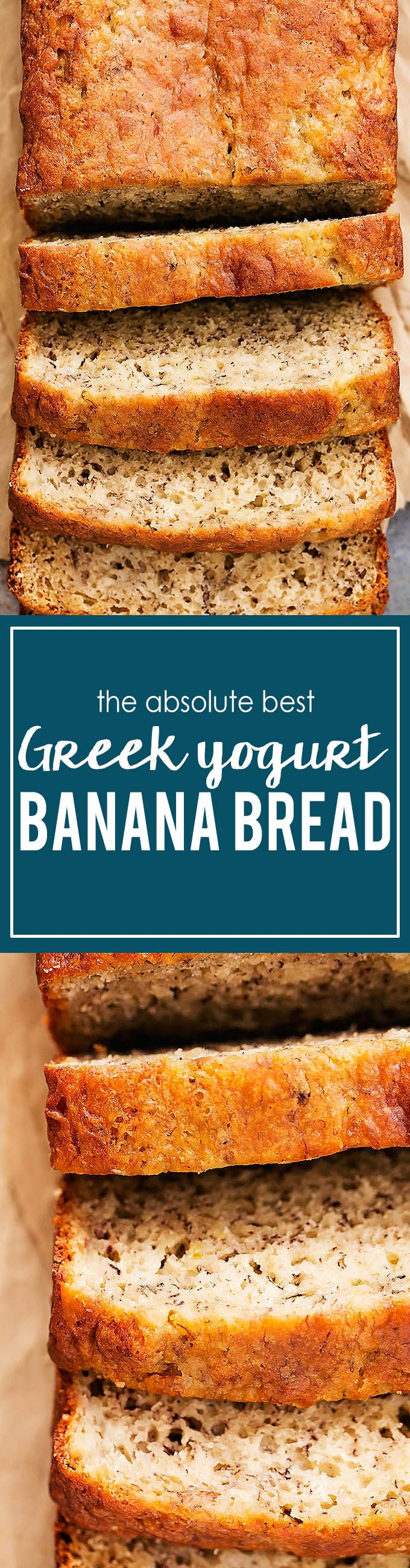 Greek Yogurt Banana Bread | Creme de la Crumb